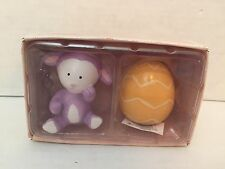Russ Berrie Easter Egg Bunny Lamb Holiday Salt & Pepper Shakers New In Box