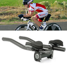 Bicycle Road Mountain Alloy Triathlon Aero Bike Rest Handle Clip On Tri Bars