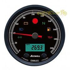Strumento nero contachilometri/contagiri Acewell CA085 cafe racer custom 101573