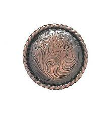 "Rose Flower 1-1/4"" Copper Plated Screwback Concho 1786c Stecksstore"