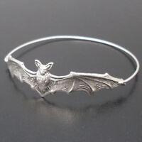Fashion Women Bat Bangle Bracelet Wristband Beautiful Halloween Jewelry Gift
