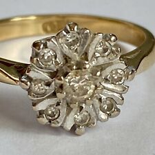 Vintage 18ct Gold Diamond Cocktail Ring Size L.5