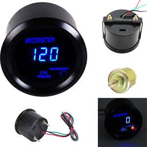 Car Motor 2 1/16 Inch 52mm Digital LED Electronic Oil Press Gauge HOTSYSTEM