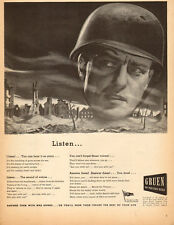 1945 WW2 AD GRUEN WATCHES great illustration by Keefe  Buy War Bonds ! 062015