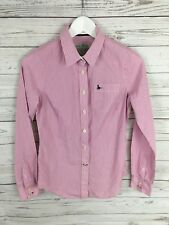 JACK WILLS Shirt - UK8 - Pink & White Stripe - Classic Fit - Great Condition