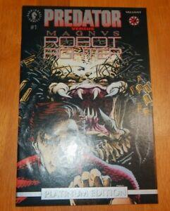 """PREDATOR VS MAGNUS ROBOT FIGHTER #1 """"PLATINUM EDITION"""" Dark Horse Comics"""