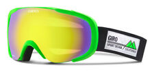 Giro Compass Ski Goggle Bright Green Frame Pop Goggle Yellow Boost Lens, New