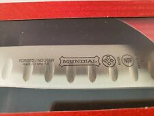 """Knife Mundial BPR5111-8GE  8"""" Carving Knife with Granton Edge, Red Handles"""