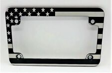 MOTORCYCLE, American Flag, Billet Aluminum License Plate Frame, Slim Line