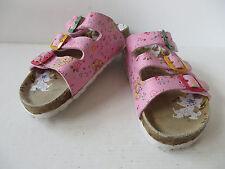 hübsche SANDALEN Gr. 30 rosa Fussbett Leder Mädchen Schuhe Clogs Pantoffel  TOP