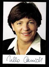 Ursula Schmidt AUTOGRAFO MAPPA ORIGINALE FIRMATO # BC 29605