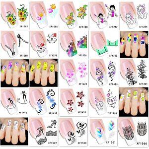 Nagelsticker Nageldesign Aufkleber Sticker Tattoo Nail Art Water Transfer