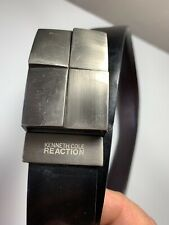 Kenneth Cole Men's Black Leather Belt size 32 GUC