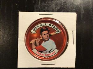 "1964 Topps Baseball Coin DICK GROAT #147 ""1964 All Stars"" Cardinals EX/MT"