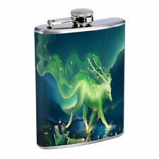 Mythical Creature D8 Flask 8oz Stainless Steel Hip Drinking Whiskey