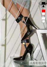 Style 1 Faux Leather High Heel Shoes Locking Straps With Locks
