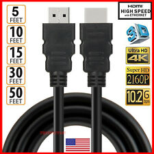 HDMI Cable 1.4 4K 3D HDTV PC Xbox ONE PS4 High Speed Plug 5 10 15 30 50 FT FEET