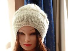Hand Knitted, Women's, Girls Slouchy Beanie, warm hat for the winter