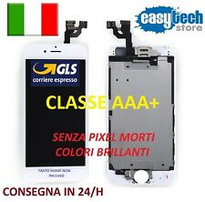 DISPLAY LCD iPhone 6 Assemblato COMPLETO Fotocamera Frontale Altoparlante BIANCO