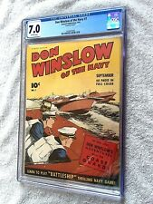 Don Winslow of the Navy #7 cgc 7.0 OFF-WHITE pages September 1943 Fawcett