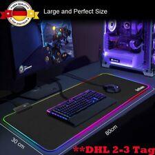 XXL Gaming Pad Mauspad RGB Anti-Rutsch Mousepad Pad 800 x 300 mm PC Unterlage DE