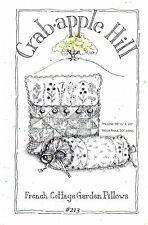 CrabApple Hill Sewing Craft Embroidery Pattern 213 French Cottage Garden Pillows