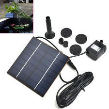 Solar Power Fountain Water Pump Panel Pool Garden Pond Submersible Watering sea