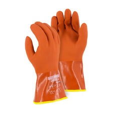 Majestic 3703 Winter Lined PVC Double Dipped Glove Seamless Knit Shell, PAIR MED