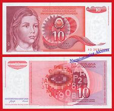 YUGOSLAVIA 10 Dinara 1990 Pick 103 SC / UNC