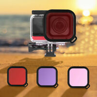 AU_ Diving Waterproof Housing Case Lens Cover for Insta360 One R Action Camera