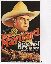 "2003 Vintage COWBOY ""BOOTS OF DESTINY"" HORSES MINI POSTER Art Plate Lithograph"