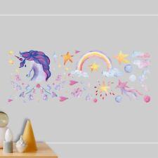Removable Wall Stickers Cartoon Unicorn Art Decals Kids Bedroom Nursery Decor