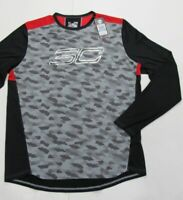 New with tag Mens UNDER ARMOUR Grey Black Red Steph Curry Long Sleeve Shirt XL
