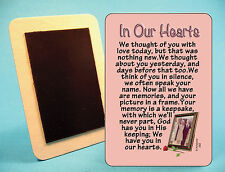 """""""In Our Hearts"""" - We Thought Of You With Love - Poem - Fridge Magnet - Sku# 582"""