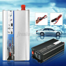 1500W Solar Power Inverter DC 12V to AC 220V Car Sine Conver Black/Sliver W