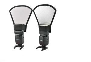 Reflector Flash diffuser softbox silver/white  Nikon speedlite Canon Sigma Sony.