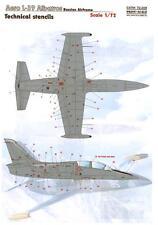 Print Scale Decals 1/72 AERO L-39 ALBATROSS TECHNICAL STENCILS
