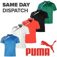New Puma Team Wear Spirit Polo Mens Training Fashion Casual Football T-shirts