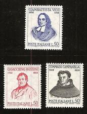 ITALY # 984-6 MNH PHILOSOPHER DOMINICAN MONK POET TEACHER & COMPOSER