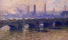 Charming Oil painting Claude Monet - Waterloo Bridge, Grey Weather landscape