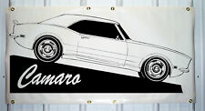 1968 Chevy Camaro custom emblem banner sign 2'X4' NEW COLORS AVAILABLE