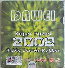 2 X DAWEI 2008 SUPER POWER PIPS-IN WITH SPONGE Tischtennis Belag  Neu
