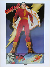 SHAZAM - CAPTAIN MARVEL POSTER Thought Factory 1977 DC