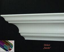 """22 Meter+ 8 I-A Ecken Stuckleiste Stuckprofile Zierprofile 81 mm x 81mm """"Sande"""""""