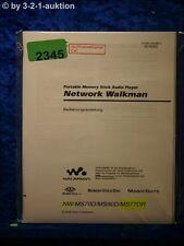 Sony Bedienungsanleitung NW MS70D /MS90D /MS77DR Network Walkman (#2345)