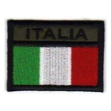 [Patch] BANDERA DE ITALIA verde militar softair cm 6,5 x 4,5 bordado ITALIA -465