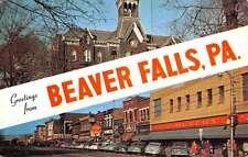 Beaver Falls Pennsylvania Street Scene Multiview Vintage Postcard K49248