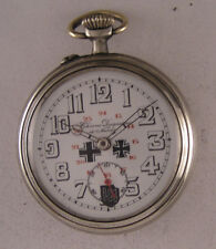 Just Serviced MILITARY WW2 Years French Chrono Duquesne a Nancy Pocket Watch A+