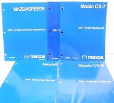 6 EACH asstd MAZDA BODYSHOP MANUALS Mazda5 CX-9 CX-7 Mazda6 MazdaSpeed6 MPV etc