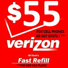 $55 VERIZON PREPAID 🔥 FAST 🔥 DIRECT TO PHONE! 🔥 TRUSTED DEALER USA !